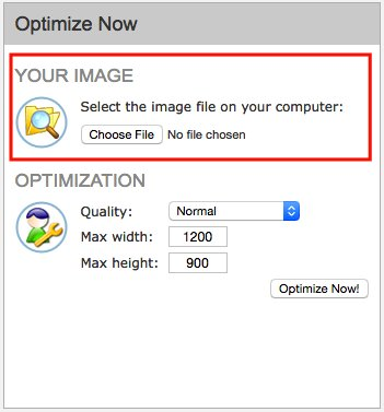 "Image Optimizer ""Choose File"""