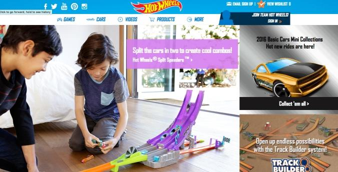 Picture of Hot Wheels Web Design