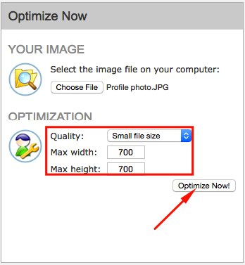 """Image Optimizer """"Height & Width Options"""""""