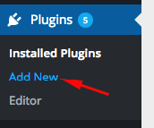"""Add New"" Option Under the WordPress Plugin Menu"