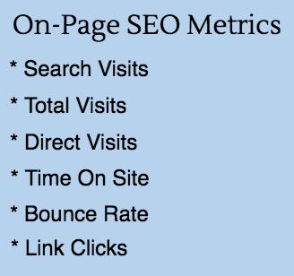 On-Page SEO Metrics